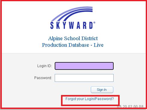 skyward alpine school district parent login