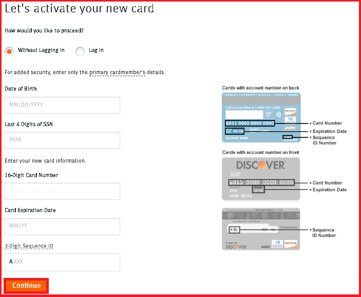 Activate Discover Credit Card