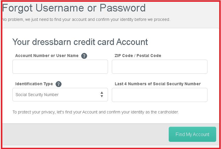 dressbarn credit card login